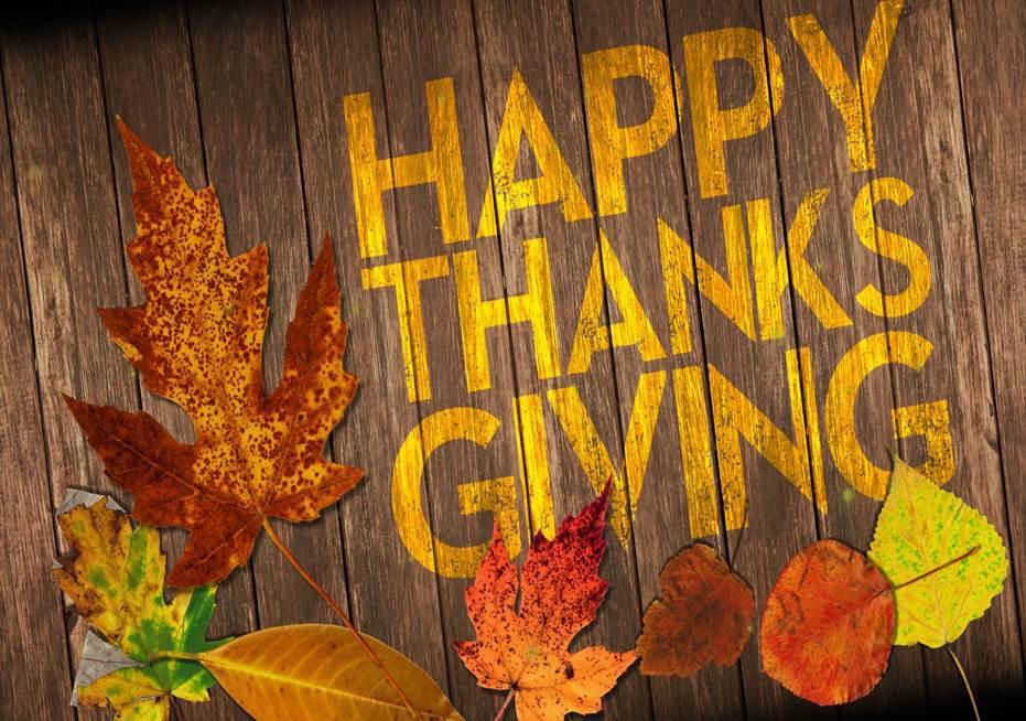 Happy Thanksgiving! No School Wed, Nov 21 – Sun, Nov 25