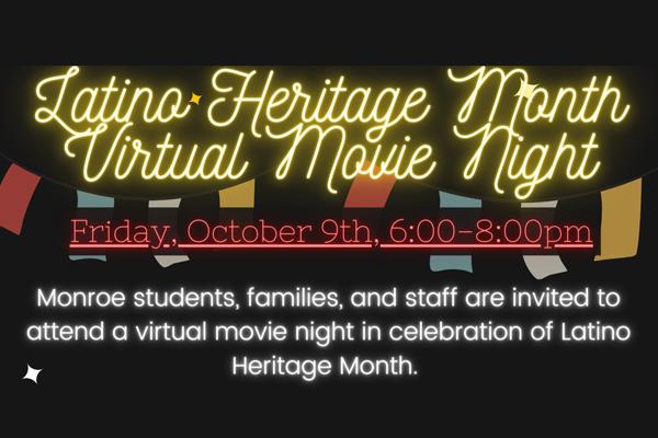 Latino Heritage Month Virtual Movie Night